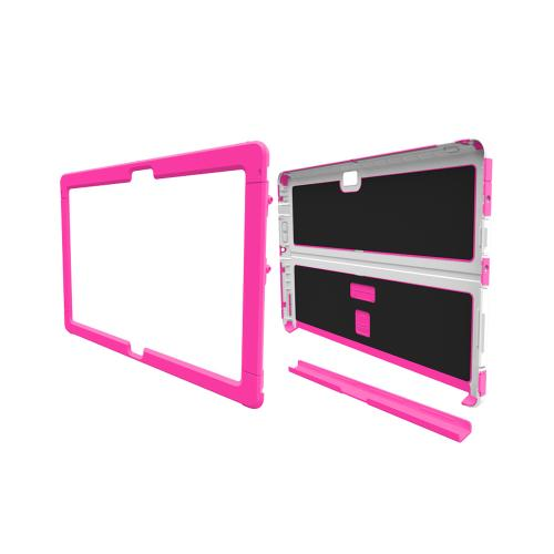 Trident Hot Pink/ White Microsoft Surface 2 Cyclops Series Thermo Poly Elastomer (super Tough) Hard Case W/ Built-in Screen Protector