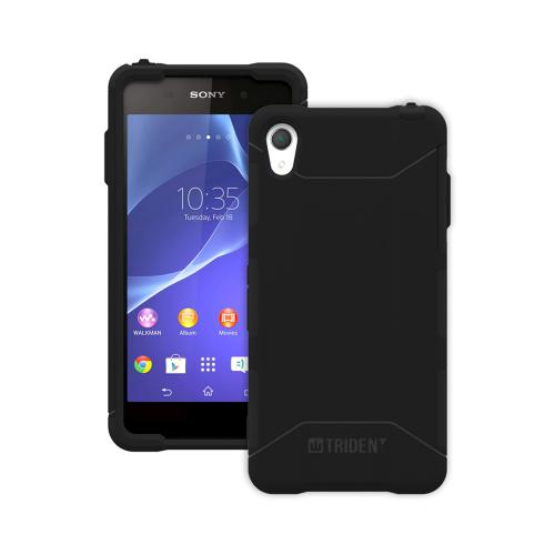 Trident Black Sony Xperia Z2 Aegis Series Hard Cover Over Silicone Skin Case w/ Screen Protector {AG-SYXPZ2-BK000} - Great Alternative to Otterbox!
