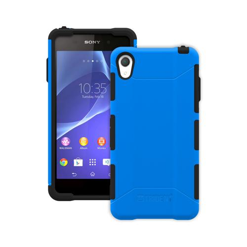 Trident Blue/ Black Sony Xperia Z2 Aegis Series Hard Cover Over Silicone Skin Case w/ Screen Protector {AG-SYXPZ2-BL000} - Great Alternative to Otterbox!
