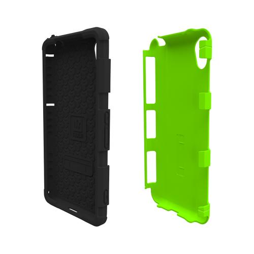 Trident Lime Green/ Black Sony Xperia Z2 Aegis Series Hard Cover Over Silicone Skin Case w/ Screen Protector {AG-SYXPZ2-TG000} - Great Alternative to Otterbox!