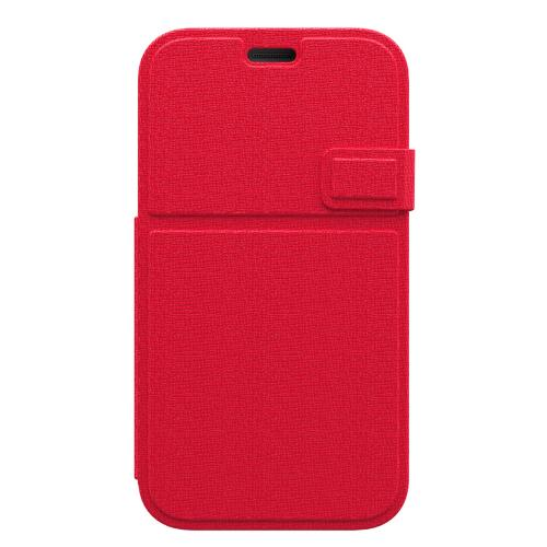 Trident Red/ White Samsung Galaxy S5 Apollo Folio Series Diary Hard Case w/ Foldable Front Cover & Screen Protector {AP-SSGXS5-WTF05} - Slim Yet Durable Protection!