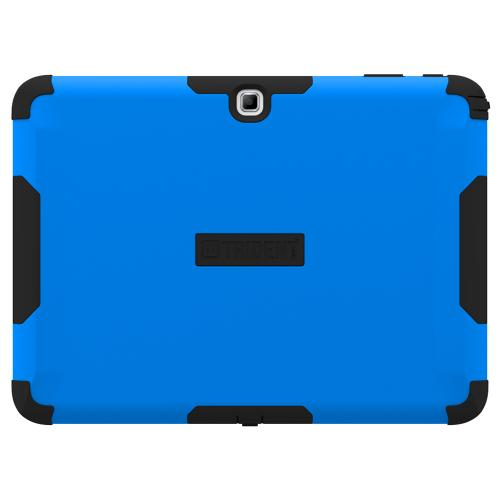Trident Blue/ Black Samsung Galaxy Tab 4 10.1 Aegis Series Hard Case Over Silicone Skin Case W/ Screen Protector - Great Alternative To Otterbox!