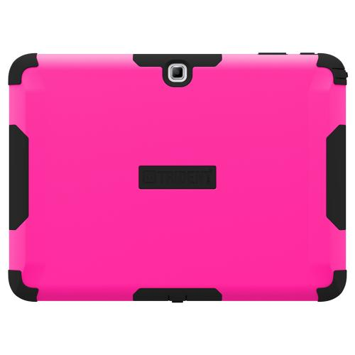 Trident Hot Pink/ Black Samsung Galaxy Tab 4 10.1 Aegis Series Hard Case Over Silicone Skin Case W/ Screen Protector - Great Alternative To Otterbox!