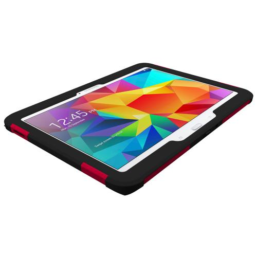 Trident Red/ Black Samsung Galaxy Tab 4 10.1 Aegis Series Hard Case Over Silicone Skin Case W/ Screen Protector - Great Alternative To Otterbox!