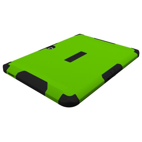 Trident Lime Green/ Black Samsung Galaxy Tab 4 10.1 Aegis Series Hard Case Over Silicone Skin Case W/ Screen Protector  Great Alternative To Otterbox