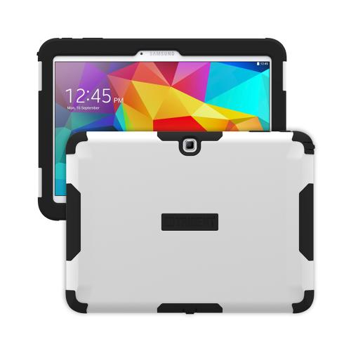 Trident White/ Black Samsung Galaxy Tab 4 10.1 Aegis Series Hard Case Over Silicone Skin Case W/ Screen Protector - Great Alternative To Otterbox!