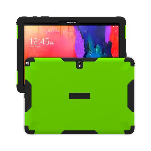Trident Lime Green/ Black Samsung Galaxy Note Pro 12.2 Aegis Series Hard Cover Over Silicone Skin Case w/ Screen Protector {AG-SSNPRO-TG000} - Great Alternative to Otterbox!