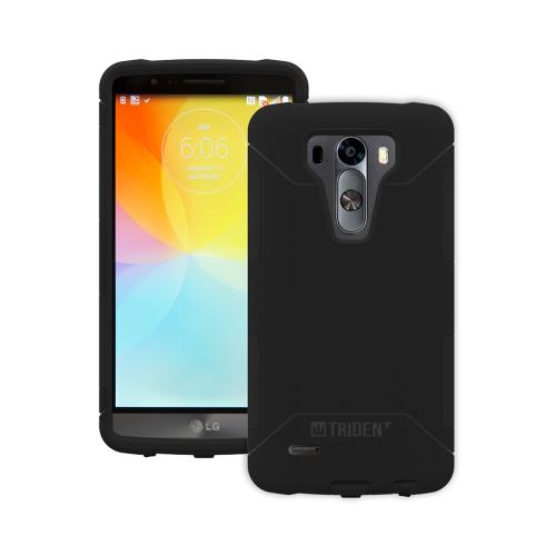 Trident Aegis G3 Case | [Black] Aegis Series Slim & Rugged Hard Cover over Silicone Skin Dual Layer Hybrid Case w/ Screen Protector for LG G3 | Great Alternative to Otterbox!