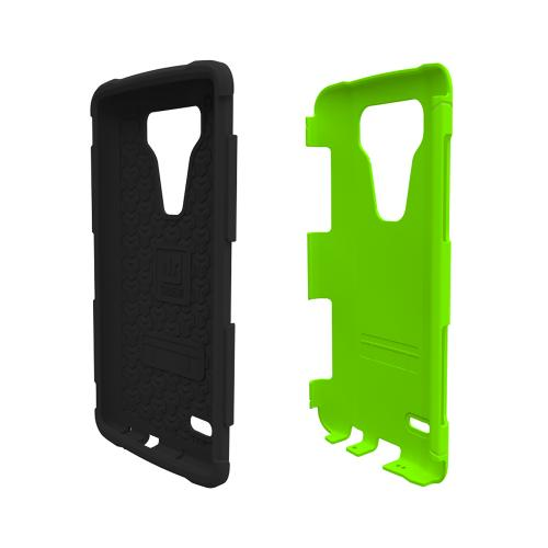 LG G3 Case, Trident [Lime Green] AEGIS Series Featuring Hardened Polycarbonate Over Silicone Skin Hybrid Case w/ Screen Protector