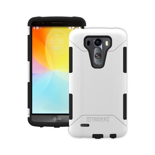 LG G3 Case, Trident [White] AEGIS Series Featuring Hardened Polycarbonate Over Silicone Skin Hybrid Case w/ Screen Protector