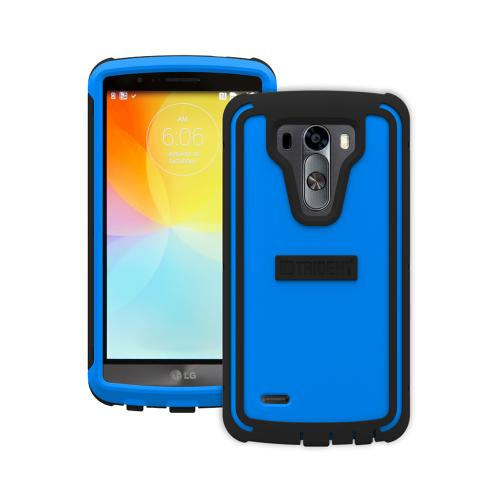 Trident Blue/ Black Lg G3 Cyclops Series Thermo Poly Elastomer (super Tough) Hard Case W/ Built-in Screen Protector  - Amazing Protection!