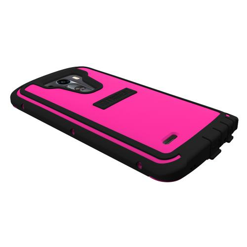 LG G3 Case, Trident [Hot Pink/ Black] CYCLOPS Series Featuring Fused Polycarbonate & Thermo Poly Elastomer Hybrid Case w/ Built-in Screen Protector