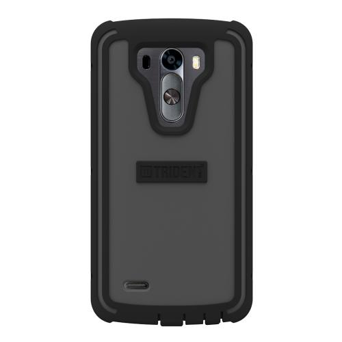 Trident Grey/ Black Lg G3 Cyclops Series Thermo Poly Elastomer (super Tough) Hard Case W/ Built-in Screen Protector - Amazing Protection!