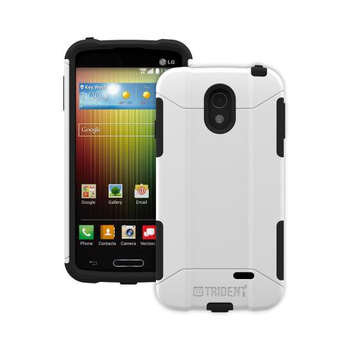 Lucid 3 Dual Layer Case by Trident [White] Aegis Series Featuring Hardened Polycarbonate Over Silicone Skin Hybrid Case W/ Screen Protector