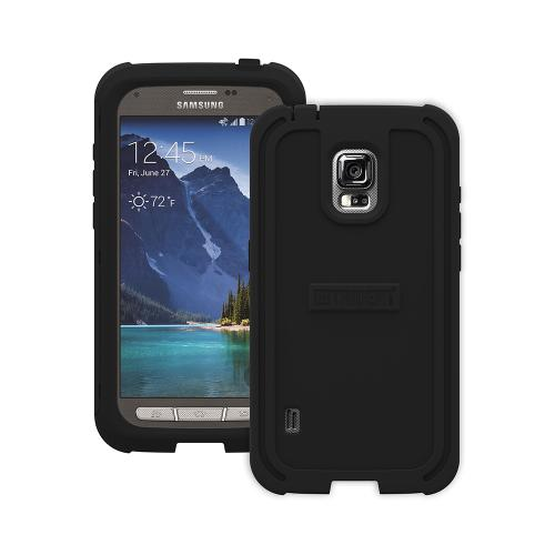 Trident Cyclops Galaxy S5 Active Case | [Black] Cyclops Series Rugged Fused Polycarbonate & Thermo Poly Elastomer (Super TOUGH!!) Dual Material Hybrid Case w/ Built-in Screen Protector for Samsung Galaxy S5 Active | Great Alternative to Otterbox!