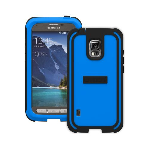 Trident Blue/ Black Samsung Galaxy S5 Active Cyclops Series Thermo Poly Elastomer (super Tough) Hard Case W/ Built-in Screen Protector