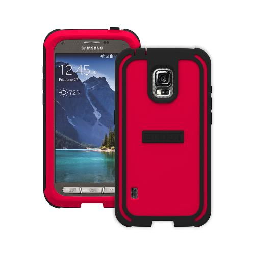 Trident Red/ Black Samsung Galaxy S5 Active Cyclops Series Thermo Poly Elastomer (super Tough) Hard Case W/ Built-in Screen Protector