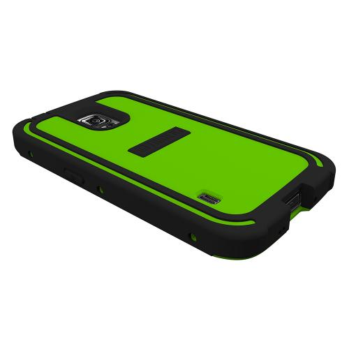 Trident Lime Green/ Black Samsung Galaxy S5 Active Cyclops Series Thermo Poly Elastomer (super Tough) Hard Case W/ Built-in Screen Protector