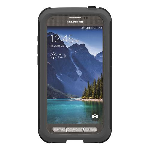 Trident Grey/ Black Samsung Galaxy S5 Active Cyclops Series Thermo Poly Elastomer (super Tough) Hard Case W/ Built-in Screen Protector