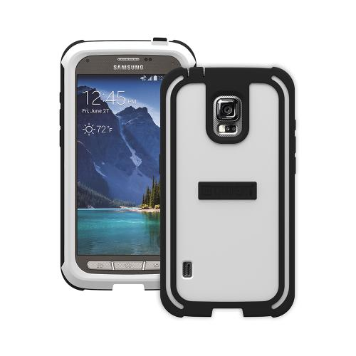Trident White/ Black Samsung Galaxy S5 Active Cyclops Series Thermo Poly Elastomer (super Tough) Hard Case W/ Built-in Screen Protector