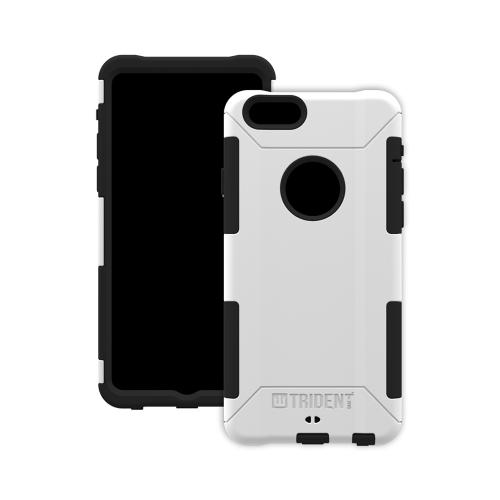 iPhone 6 Dual Layer Case by Trident [White] Aegis Series Featuring Hardened Polycarbonate Over Silicone Skin Hybrid Case W/ Screen Protector