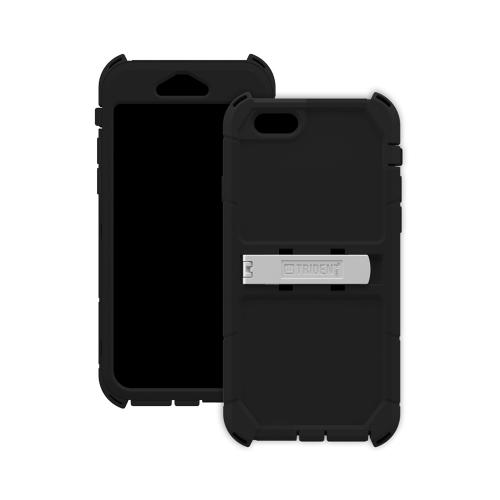 iPhone 6 Dual Layer Case by Trident | [Black] Kraken AMS Rugged Hard Polycarbonate On Silicone Dual Layer Hybrid Case W/ Built-in Screen Protector