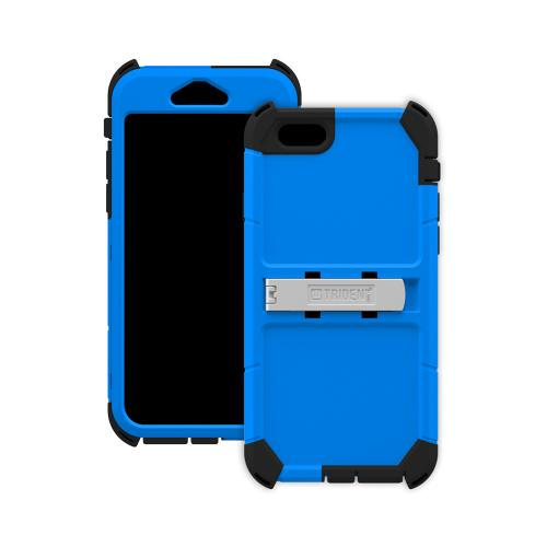 iPhone 6 Dual Layer Case by Trident | [Blue] Kraken AMS Rugged Hard Polycarbonate On Silicone Dual Layer Hybrid Case W/ Built-in Screen Protector