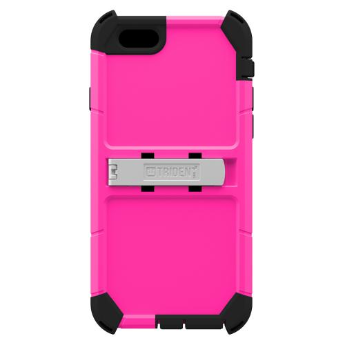 Apple iPhone 6/ 6S Case, Trident [Hot Pink] Kraken AMS Polycarbonate On Silicone Dual Layer Hybrid Case w/ Built-in Screen Protector