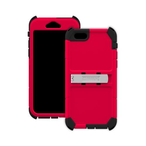 iPhone 6 Dual Layer Case by Trident [Red] Kraken AMS Series Rugged Hardened Polycarbonate On Silicone Hybrid Case W/ Built-in Screen Protector
