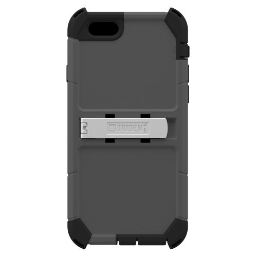 Apple iPhone 6/ 6S Case, Trident [Gray] Kraken AMS Polycarbonate On Silicone Dual Layer Hybrid Case w/ Built-in Screen Protector