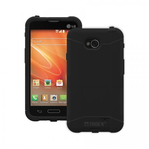 Trident Black Lg Optimus Exceed 2 Aegis Series Hard Case Over Silicone Skin Case W/ Screen Protector - Great Alternative To Otterbox!