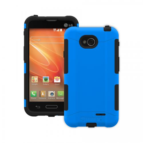 Trident Blue/ Black Lg Optimus Exceed 2 Aegis Series Hard Case Over Silicone Skin Case W/ Screen Protector - Great Alternative To Otterbox!