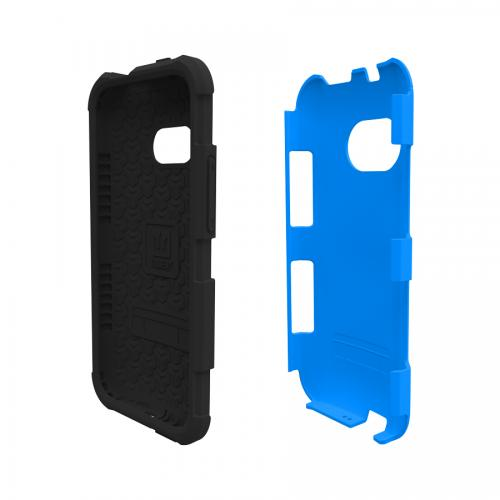 Trident Blue/ Black Htc One Remix Aegis Series Hard Case Over Silicone Skin Case W/ Screen Protector - Great Alternative To Otterbox!