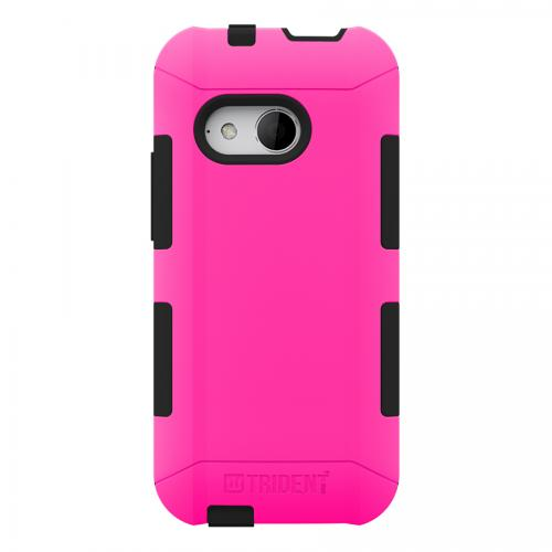 Trident Hot Pink/ Black Htc One Remix Aegis Series Hard Case Over Silicone Skin Case W/ Screen Protector  - Great Alternative To Otterbox!