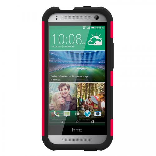 Trident Red/ Black Htc One Remix Aegis Series Hard Case Over Silicone Skin Case Screen Protector {ag-htm8mn-rd000} - Great Alternative To Otterbox!