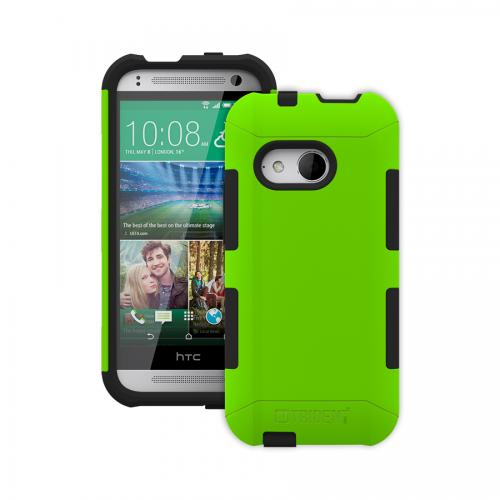 Trident Lime Green/ Black Htc One Remix Aegis Series Hard Case Over Silicone Skin Case W/ Screen Protector - Great Alternative To Otterbox!