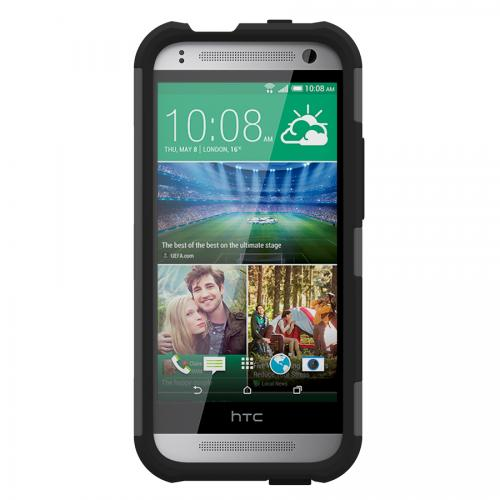 Trident Gray/ Black Htc One Remix Aegis Series Hard Case Over Silicone Skin Case W/ Screen Protector - Great Alternative To Otterbox!