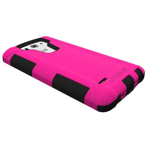 Trident Hot Pink/ Black Lg G3 Mini Aegis Series Hard Case Over Silicone Skin Case W/ Screen Protector - Great Alternative To Otterbox!
