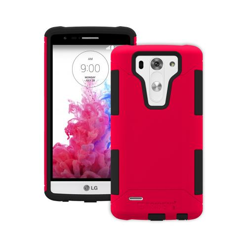 LG G3 Mini Case, Trident [red/black] Aegis Series Slim & Rugged Hard Case Over Silicone Skin Dual Layer Hybrid Case W/ Screen Protector