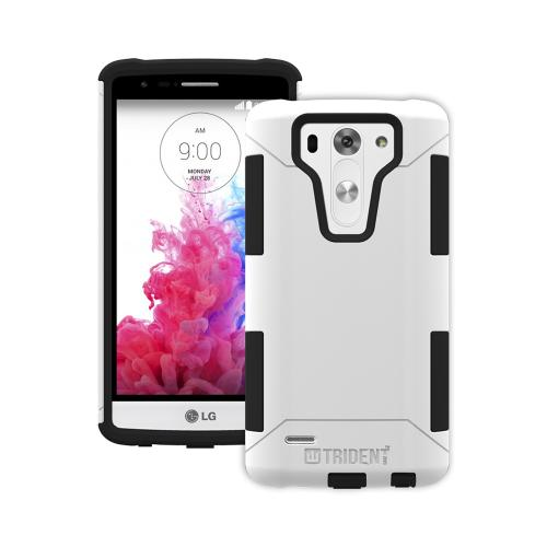 LG G3 Mini Dual Layer Case by Trident [White] Aegis Series Featuring Hardened Polycarbonate Over Silicone Skin Hybrid Case W/ Screen Protector