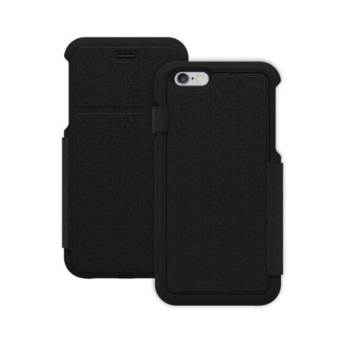 Trident [Black] Apollo Folio Series Slim & Protective Folio Flip Wallet Case Made for Apple iPhone 6 PLUS/6S PLUS (5.5 inch)