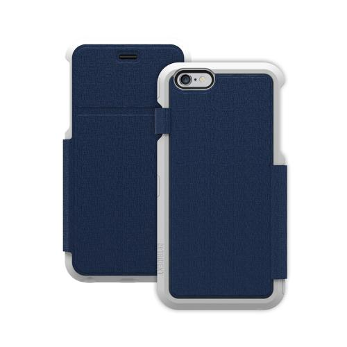 Trident [Navy / White] Apollo Folio Series Slim & Protective Folio Flip Wallet Case Made for Apple iPhone 6 Plus (5.5 inch) (2014)