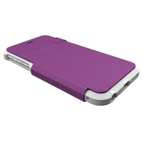 Trident [Lavender / White] Apollo Folio Series Slim & Protective Folio Flip Wallet Case Made for Apple iPhone 6 PLUS/6S PLUS (5.5 inch)
