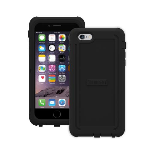 Trident [Black] Cyclops Series Slim & Rugged Dual Layer Bumper Hybrid Case w/ Built-in Screen Protector Made for Apple iPhone 6 Plus (5.5 inch) (2014)