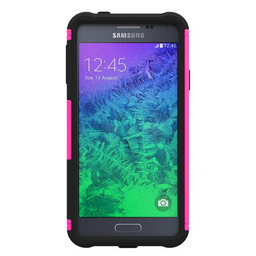 Trident Hot Pink/ Black Samsung Galaxy Alpha Aegis Series Hard Case Over Silicone Skin Case W/ Screen Protector - Great Alternative To Otterbox!