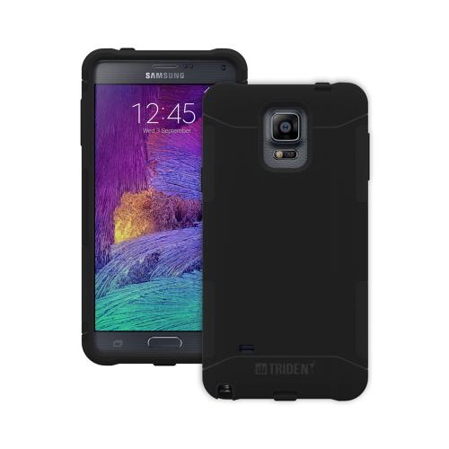 Galaxy Note 4 Case, Trident [black] Aegis Series Slim & Rugged Hard Case Over Silicone Skin Dual Layer Hybrid Case W/ Screen Protector
