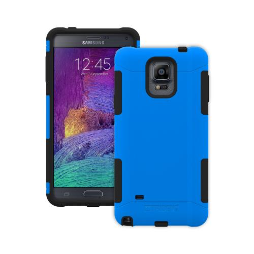 Samsung Galaxy Note 4 Case, Trident [Blue/ Black] AEGIS Series Slim & Rugged Hard Case Over Silicone Skin Dual Layer Hybrid Case w/ Screen Protector