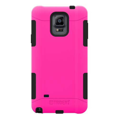 Samsung Galaxy Note 4 Case, Trident [Hot Pink/ Black] AEGIS Series Slim & Rugged Hard Case Over Silicone Skin Dual Layer Hybrid Case w/ Screen Protector