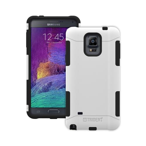 Samsung Galaxy Note 4 Case, Trident [White/ Black] AEGIS Series Slim & Rugged Hard Case Over Silicone Skin Dual Layer Hybrid Case w/ Screen Protector