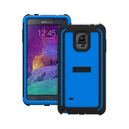 Samsung Galaxy Note 4 Case, Trident [Blue/ Black] CYCLOPS Series Slim & Rugged Dual Layer Bumper Hybrid Case w/ Built-in Screen Protector
